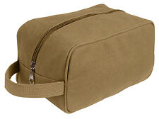 toiletry travel kit bag canvas with strap military style rothco 8126