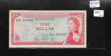 EAST CARIBBEAN STATES $1 Dollar ,Queen P-13c sign 4,ND(1965) ,Rare