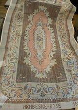 "New listing Gigantic * 95"" x 59"" Vintage Arabeske Rose Beautiful Latch Hook Canvas England"