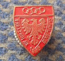 NOC POLAND OLYMPIC LONDON 1948 RARE SCREW PIN BADGE