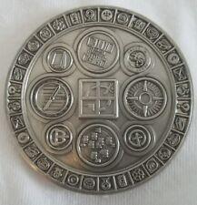 """Unactivated Symbology Antique Nickel silver geocoin! - 2"""" diameter trackable"""