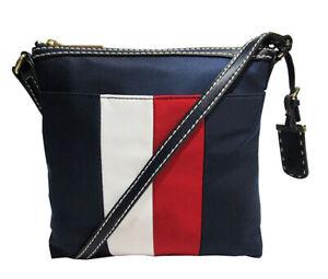 Tommy Hilfiger Julia North South Corporate Stripe Crossbody Bag Msrp:$98.00
