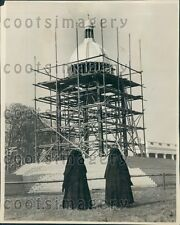 1932 Open Air Altar Construction Eucharistic Congress Dublin Press Photo