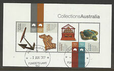 AUSTRALIA 2015 COLLECTIONS AUSTRALIA Cook Anchor Gold Turtle S/Sheet CTO/USED