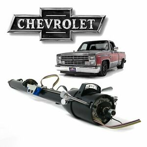 "1973-83 Chevy Truck 33"" Black GM TILT STEERING COLUMN Auto SHIFT + KEY Fleetside"