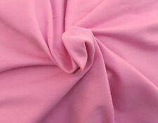Pink Cotton Spandex French Terry Knit Fabric by the Yard 2-25-16
