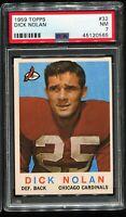 1959 Topps Football #32 DICK NOLAN Chicago Cardinals PSA 7 NM
