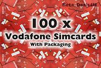 100x VODAFONE PAY AS YOU GO 3G SIM CARD NEW VODAPHONE VODA BULK WHOLESALE JOBLOT