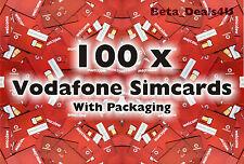 100x Vodafone Pay As You Go 3g Sim Card Nuevo Vodafone voda a granel venta al por mayor joblot