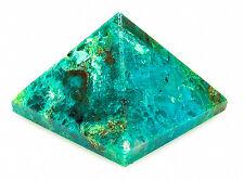 PYRAMID - CHRYSOCOLLA 22-26mm Crystal w/Description & Pouch - Healing Stone
