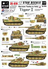 Star Decals - German Tanks in Italy #1 - Tiger I. ,scale 1:35, 35-870