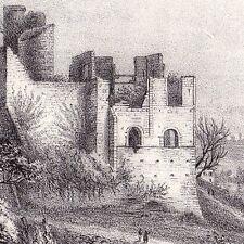 Lithographie XIXe Château de Langoiran Gironde 1835