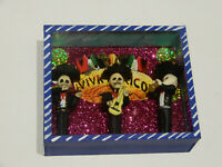 """Mariachi Band -  Day of the Dead Mexican Skeleton Diorama - BRAND NEW 6'x5"""""""