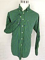 Ralph Lauren Jeans Co. Mens Long Sleeve Shirt  Green Blue Sz L   Button Up