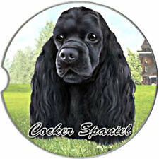 E&S Pets Absorbent Car Coaster Dog Breed Stoneware Cocker Spaniel Black Puppy