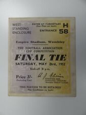More details for arsenal v newcastle united   1951/1952   fa cup final   3 may 1952   uk freepost