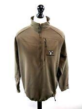 NIKE GOLF FLAGSTAFF RANCH Mens Jumper Sweater UK L Large US M Brown Poly 1/2 Zip