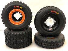 DWT G3 Beadlock Wheels Maxxis Razr MX Tires Front Rear Kit YFZ450 Banshee Raptor