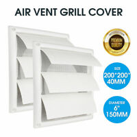 6'' Exhaust Fan 200mm Gravity External Shutter Wall Air Vent Grille Grill Duct