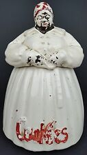 Vintage McCoy Pottery Ceramic Black Americana Mammy Cookie Jar Distressed