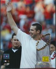 Chris Carpenter World Series Trophy St. Louis Cardinals 8x10 Photo W/ Toploader