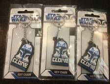 "Lot of 3 Star Wars ""Clone Wars"" Keyrings - Party loot bags, favours or prizes"