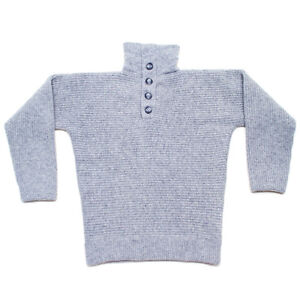 100% Wool Dachstein Woolwear Thick Boiled Wool Pullover Sweater from Austria