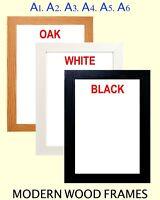 A1 A2 A3 A4 A5 A6 10X8 36X24 70X50cm Picture Poster Frames BLACK WHITE OAK
