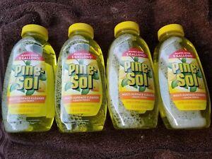 4 Pine-Sol Multi Surface Cleaner 10.75 Bottles-Lemon Fresh Scent
