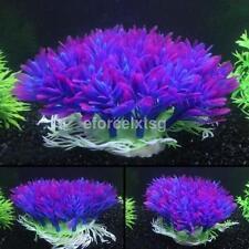 Beautiful Purple Aquarium Fish Tank Decoration Underwater Water Plant Ornament