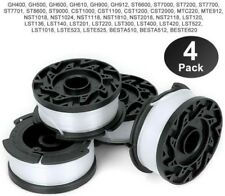 Black Decker String Trimmer Line Spool Replacement Weed Eater Grass Edger 4 Pack