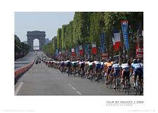 Tour de France Final Stage CHAMPS ELYSEES FINISH Paris Cycling Poster Print