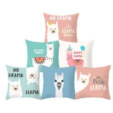 """18"""" Animal Pattern Cute Llama Throw Pillow Case Home Decor Sofa Cushion Cover"""
