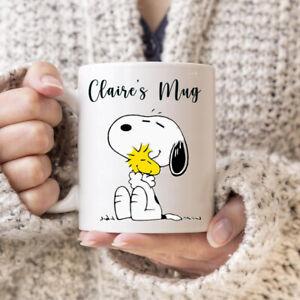 Snoopy Personalised Name mug cute woodstock birthday gift 11oz