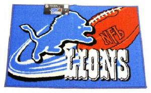 "DETROIT LIONS NFL 30""X20"" WELCOME MAT RUG BRAND NEW"