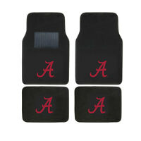 New 4pcs NCAA Alabama Crimson Tide Car Truck Front Rear Carpet Floor Mats Set