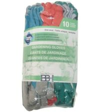 10 Pairs BBH Gardening Gloves for Garden and Yard New Sealed Antimicrobial