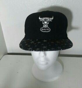 chicago bulls new era snapback hat Black/white Flat Brim With Stars Youth Size