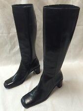 Via Spiga - Tall Black Leather Boots - Medium Block Heel - Sz 8M - EUC