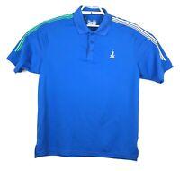 Under Armour Heatgear Mens Blue Golf Polo Shirt Loose Gear Size XL