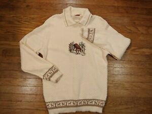 CK Grace Women's Pullover Sweater with Embroidered Horse, Size Medium