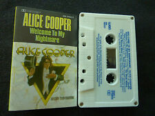 ALICE COOPER WELCOME TO MY NIGHTMARE ULTRA RARE AUSSIE CASSETTE TAPE!