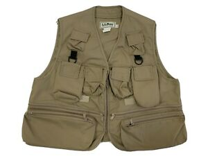 Vintage LL Bean Fly Fishing Vest - Men's Khaki Made in USA 2XL?