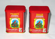 Paprika - 1 Sweet Smoked & 1 Hot Smoked Spanish Pimenton (2x 125g tins pack)