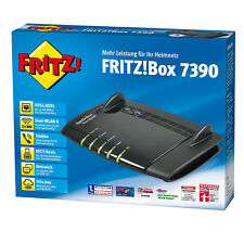 AVM Fritzbox 7390 Noir Version Allemande Wlan ✔ 2 Ans Garantie ✔