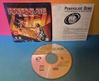 Powerslave PC DOS Computer Demo Disc Complete RARE Lobotomy