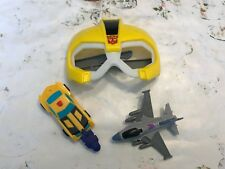 Lot of 3 McDonald's Happy Meal Toys Transformers Bumblebee Mask/Car/Airplane Toy
