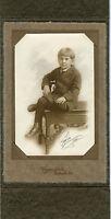 Antique Photo in Folder, Belleville, Illinois-Little Boy All Dressed Up Knickers