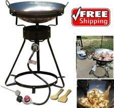 "King Kooker 24"" 54000 Btu Portable Propane Wok Outdoor Cooker, Cast Burner New"