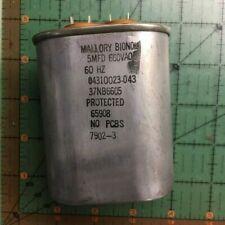 Mallory Motor Run Capacitor 5uF 660vac 37NB6605 AC 60Hz Bionol Pump